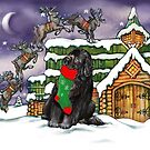 Stocking Newfie by Patricia Reeder Eubank