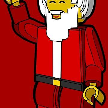 Lego Toys Santa Christmas Noel Hanukkah Holiday Gift  by goodedesign