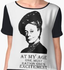 At my age one must ration one's excitement Women's Chiffon Top