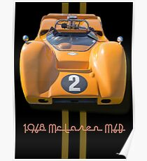 1968 McLaren M6B Can Am Race Car Poster