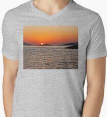 Rhodes Sunset Men's V-Neck T-Shirt