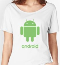 Android Robot Logo Women's Relaxed Fit T-Shirt