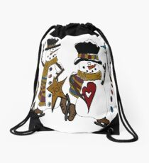 Snow Play Drawstring Bag