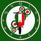 Retro look Scooter clock by Auslandesign