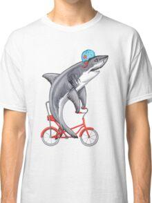 Cycling Shark  Classic T-Shirt