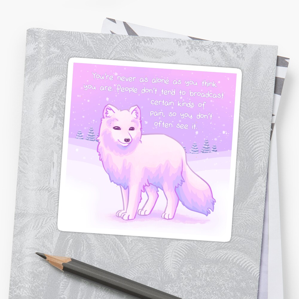 """You're Never Alone"" Arctic Fox by thelatestkate"