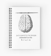 Connected It To His Brain (Hamilton) Spiral Notebook