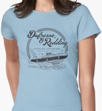 Dufresne & Redding Fishing Charters (aged look) Women's Fitted T-Shirt