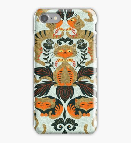 Damask cats iPhone Case/Skin