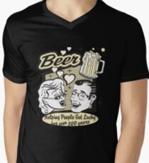 Beer Helping People Get Lucky For Over 300 Years Mens V-Neck T-Shirt
