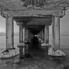 Dromana Pier in B & W by Tracii C Photography