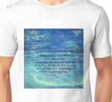 Gandhi ocean sea humanity quote Unisex T-Shirt