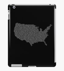 America Constitution Shape Map iPad Case/Skin