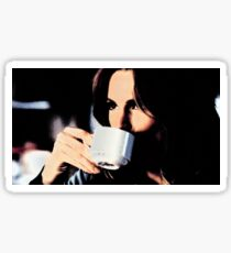 Stana Katic Coffee Sticker