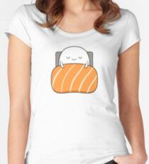 sleepy sushi bed Women's Fitted Scoop T-Shirt