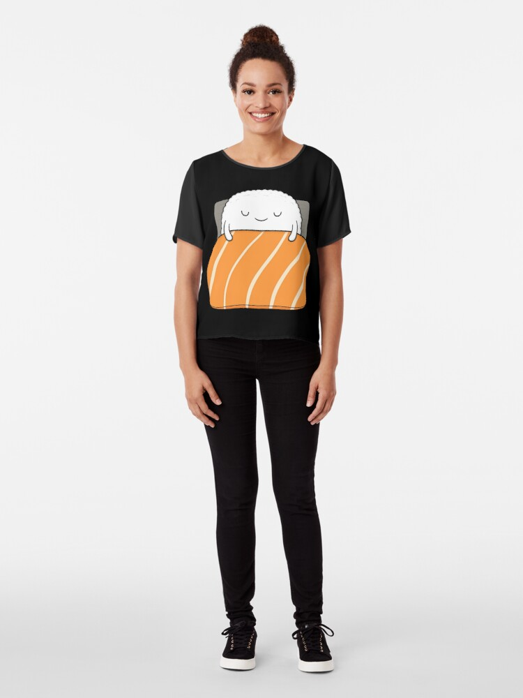 Alternative Ansicht von schläfriges Sushi-Bett Chiffon Top