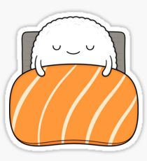 sleepy sushi bed Sticker