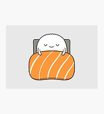 sleepy sushi bed Photographic Print