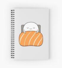sleepy sushi bed Spiral Notebook