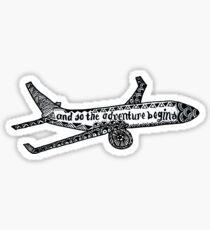 Pegatina Y entonces la aventura comienza a dibujar