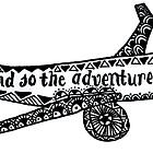 And So the Adventure Begins Drawing by Marlena Penn