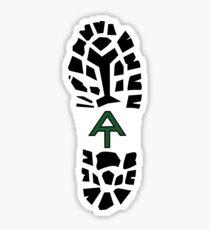 Appalachian Trail Boot Print-Grün Sticker
