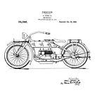 Harley Davidson Motorcycle 1919 Patent Drawing by Framerkat