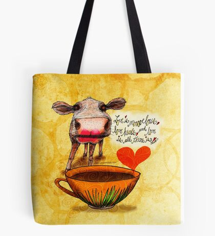 What my Coffee says to me February 16, 2016 Tote Bag