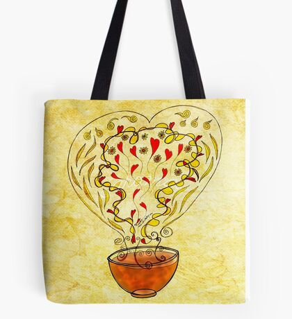 What my Tea says to me July 25, 2013 (landscape) Tote Bag