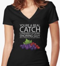 Real Catch  Women's Fitted V-Neck T-Shirt