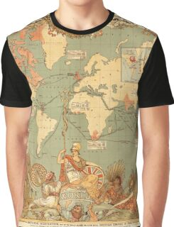 Map Of The British Empire 1886 Graphic T-Shirt