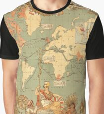 Map Of The British Empire 1886 Graphic T-Shirt