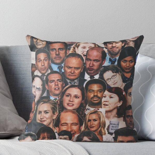 The Office Collage  Throw Pillow