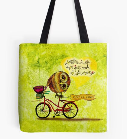 What my Coffee says to me March 16, 2016  Tote Bag