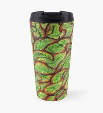 Leaf Wind in Green & Red Travel Mug