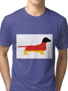 dachshund flag silhouette Tri-blend T-Shirt