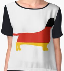 dachshund flag silhouette Chiffon Top