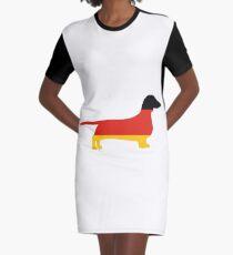 dachshund flag silhouette Graphic T-Shirt Dress