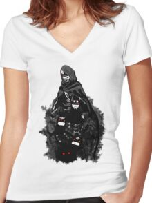 Black Spirit, your best companion Women's Fitted V-Neck T-Shirt