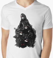 Schwarzer Geist, dein bester Begleiter T-Shirt mit V-Ausschnitt