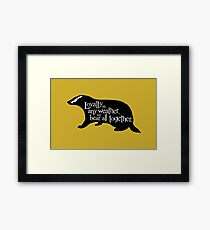 Loyalty In Any Weather, We Bear All Together Framed Print
