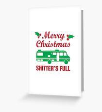 Frohe Weihnachten Shitter ist voll Grußkarte