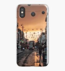Oxford Street At Twilight With Christmas Lights Greeting Card iPhone Case/Skin