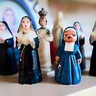 Christmas Nuns Greeting Card by AntSmith