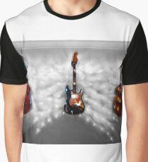 Christmas Guitars Greeting Card Graphic T-Shirt