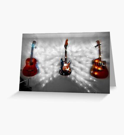 Christmas Guitars Greeting Card Greeting Card