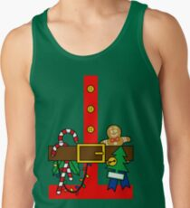 Christmas Busy Elf Suit Costume Design Tank Top