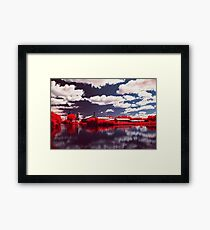 Clouds Above Clouds Below Framed Print
