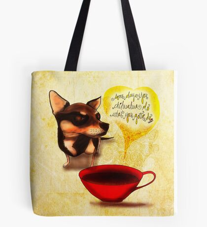 What my #Coffee says to me - May 13, 2015 Tote Bag