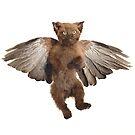 Flying Taxidermy Kitten by Adele Morse by ADELE MORSE